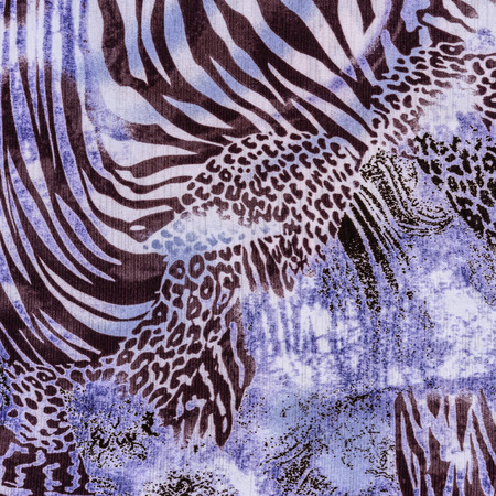 texture of print fabric stripes leopard  and zebra for background