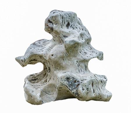 oud stenen graniet geïsoleerd op een witte achtergrond