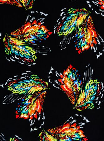 mottle: texture of print fabric stripes feathers for background