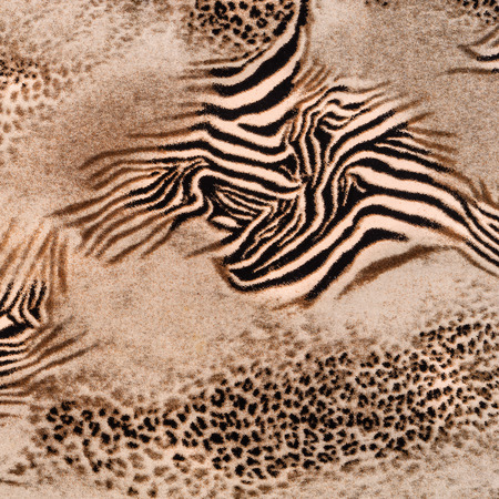 texture of print fabric striped leopard and zebra for background photo