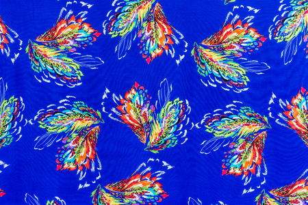 mottle: texture of print fabric striped feathers for background Stock Photo