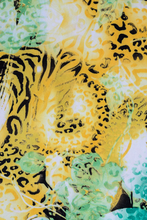mottled skin: texture of print fabric striped leopard for background