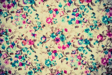 pink brown: texture of vintage print fabric striped flower for background