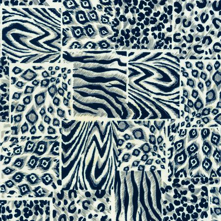 cebra: textura de la tela del estampado leopardo y rayas de cebra para el fondo Foto de archivo