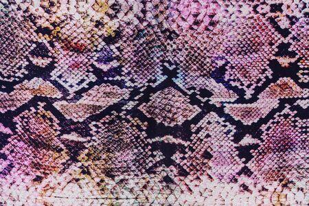 serpiente cobra: textura de la tela de la impresión de cuero de serpiente de rayas para el fondo Foto de archivo