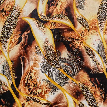 Texture de léopard rayé de tissu imprimé pour le fond Banque d'images - 43873805
