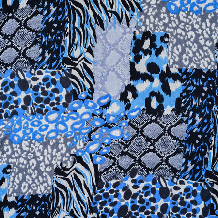 fabric patterns: texture of print fabric striped leopard and snake leather  for background