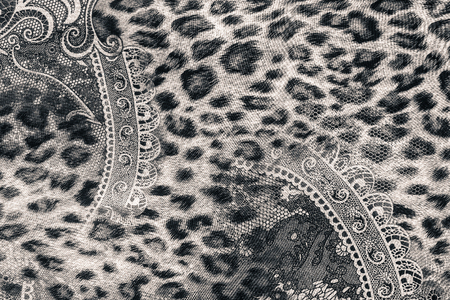fashion art: texture of print fabric striped leopard for background