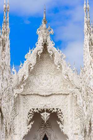 unseen: Unseen Thailand, Famous white church in Wat Rong Khun, Chiang Rai province, northern Thailand. Stock Photo