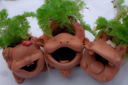 Baffalo ,Pig ,Hippopotamus clay photo