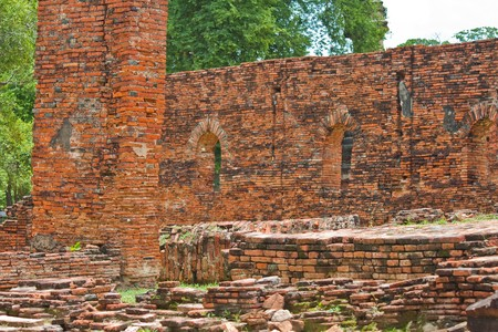 Remains - antiques place - Ayutthaya ,Thailands photo