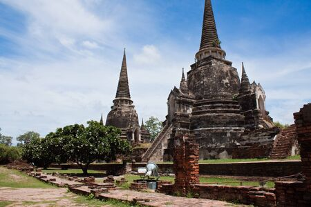 Ancient pagoda - antiques place - Ayutthaya ,Thailands photo