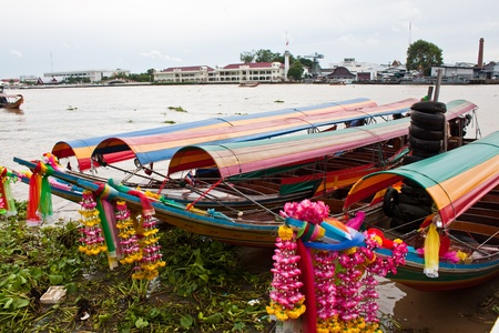 praya: travel by Long tailed boat in thailand