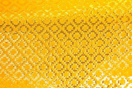 yellow frabric thai style  photo