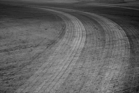 Car drift skid marks photo