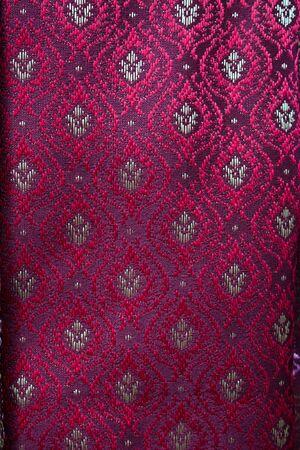 thai silk: Thai red Sarong Silk  fabric