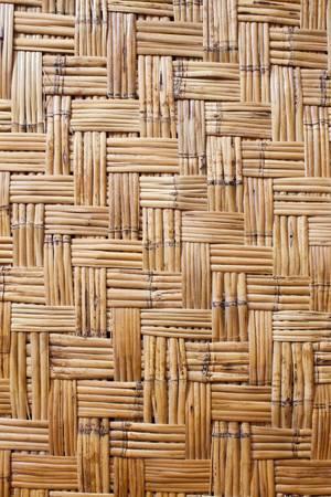 Bamboo woven texture photo