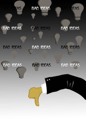 bad idea: Bad idea creative concept
