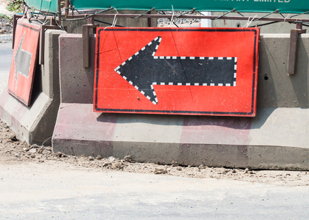 need direction: traffic signs  straight ,construction highway