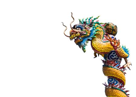 stucco: dragon stucco china style. Stock Photo