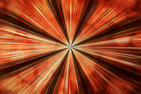 distorted image: Red warp hole