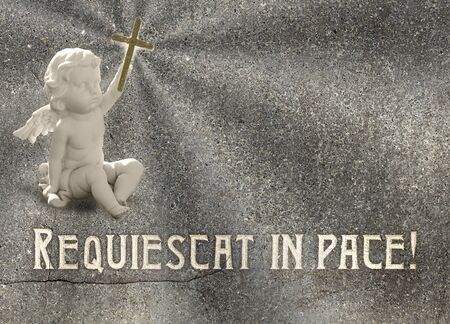 pace: Rest in peace or Requiescat in pace in latin. Stock Photo
