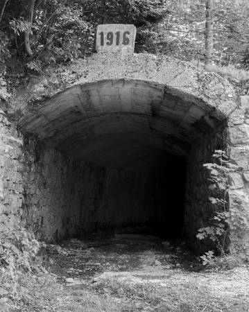 man made: Old tunnel, made in 1916, man made. Stock Photo