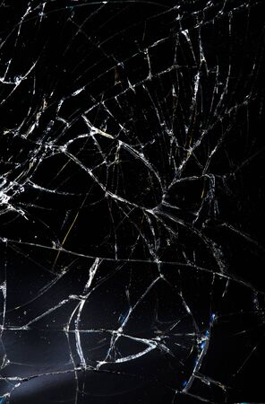 shattered: Shattered glass with a lot of cracks, texture.