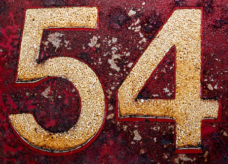 degrading: Old numbers with grunge look.
