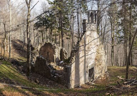 man made structure: Old church Sv. miklavz in Slovenia, Slivnica Stock Photo