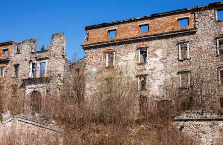 man made structure: Abandoned baroque mansion, haasberg located in Slovenia, Europe.