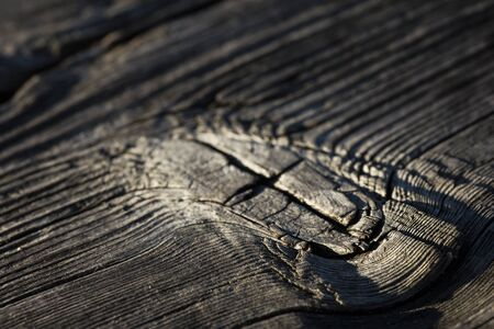 Very old dry wood mark close up.