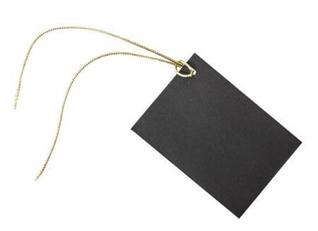 Small black paper etiquette.