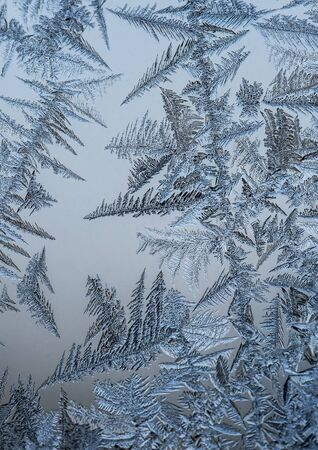 ice crystals: Small frozen ice crystals close up. Stock Photo
