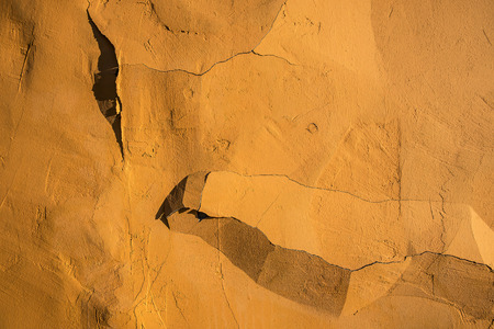 Fine incrinata di struttura della parete in su. Archivio Fotografico