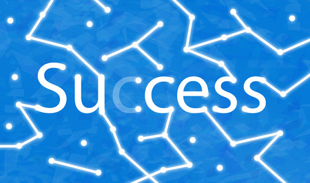 Sucess sign connected with random dots Stok Fotoğraf