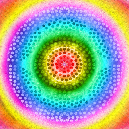 Digitaly created energy circles with vibrant colors on it.