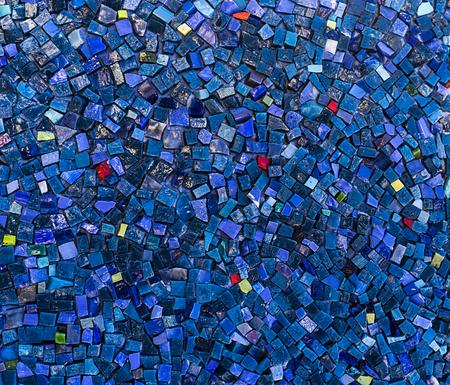 Small mosaic tiles close up pattern.