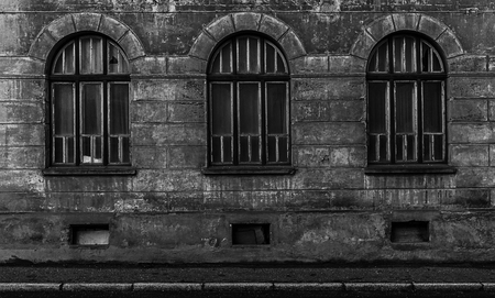Old abandoned building with some symmetry. Stok Fotoğraf - 120368631
