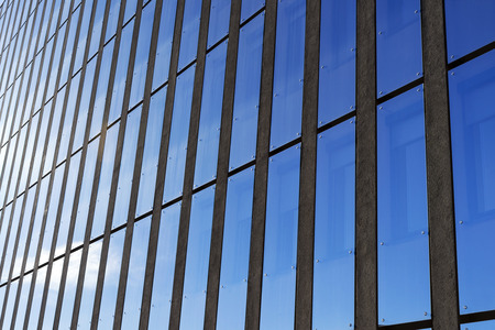 Modren glass facade building architecture.