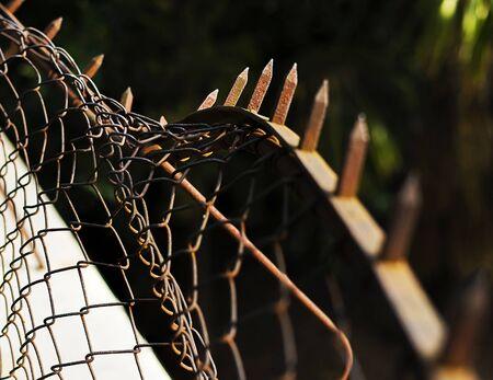 Twisted fence symbolizing use of force