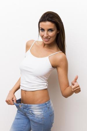 Beautiful woman after weight loss Stock Photo - 21001636