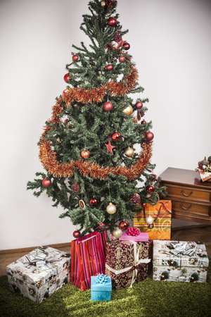 Christmas tree with present boxes Stock Photo - 23180681