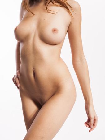 Torso of perfect natural female body