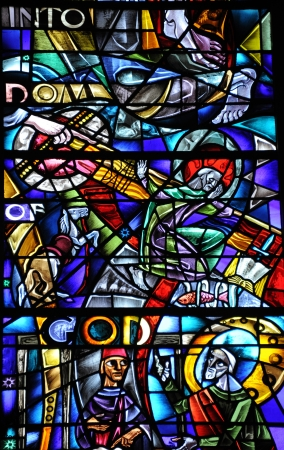 stained glass windows: Stained Glass Stock Photo