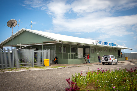 The tiny Kieta Airport on the island of Bougainville in Papua New Guinea Editorial