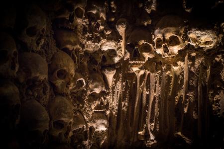 A Creepy Wall of Human Skulls in Portugals Chapel of Bones in Evora