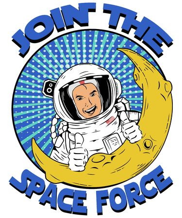 Propoganda Recruitment Graphic for the United States Space Force Imagens
