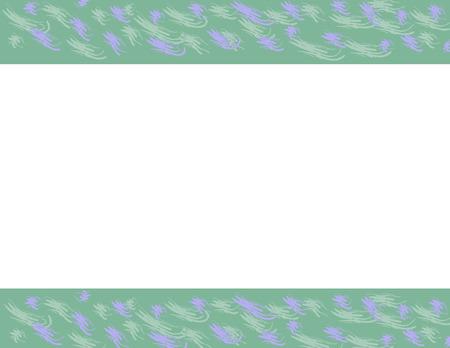 Purple and green brush strokes on green borders Ilustração