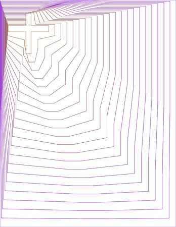Gold and Purple Lined Cross Background Фото со стока - 4866847